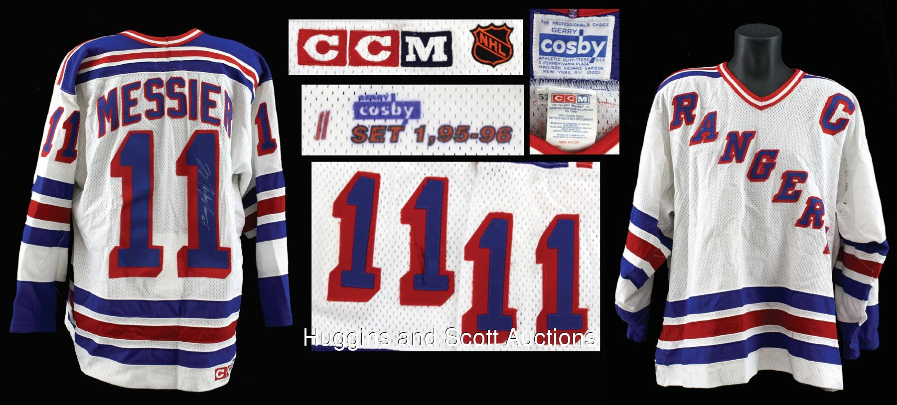 online store 5608f 42afc Mark Messier 1995-96 New York Rangers Signed Game-Worn Home ...